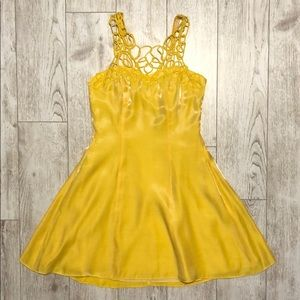 Joseph Ribkoff yellow cocktail mini dress size 8